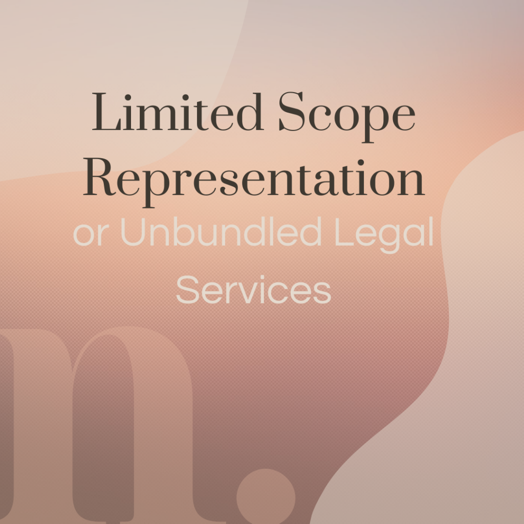 limited scope representation divorce